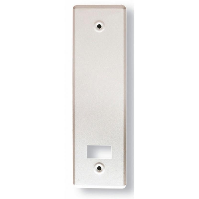 Placa normal ancha en aluminio para recogedor metálico