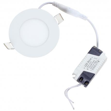 Downlight LED 3W Blanco 85mm Ultrafino redondo