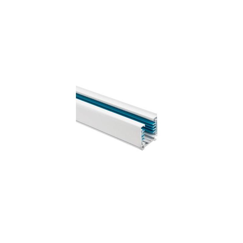 Carril Trifásico para Focos LED 1 Metro Blanco