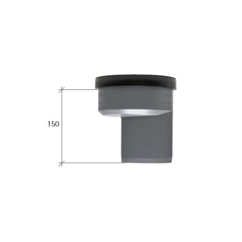 Manguito desagüe inodoro excéntrico PVC