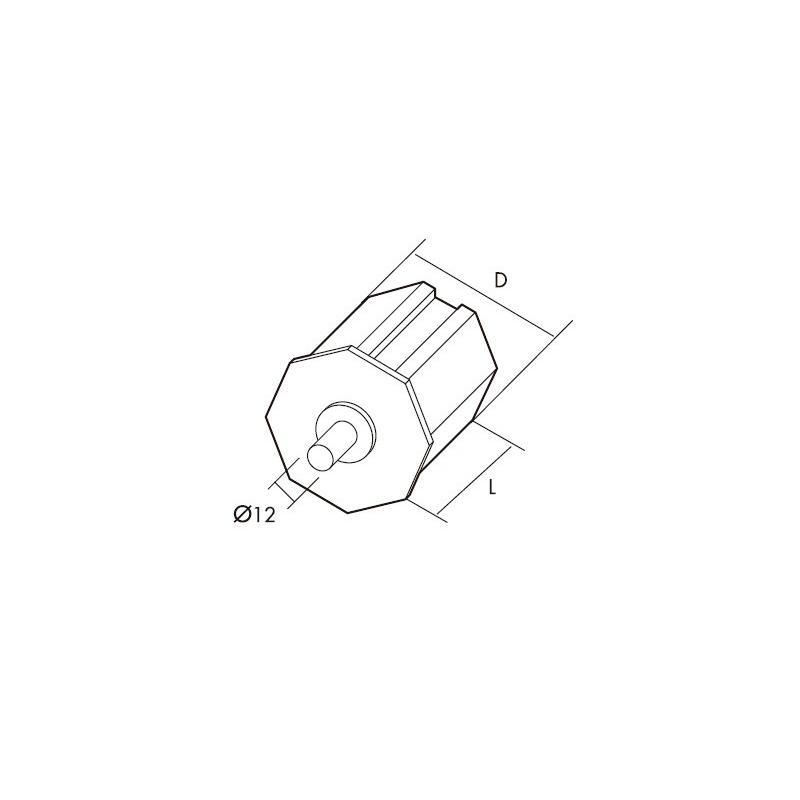 Gaviota-Simbac Cápsula PVC con espiga