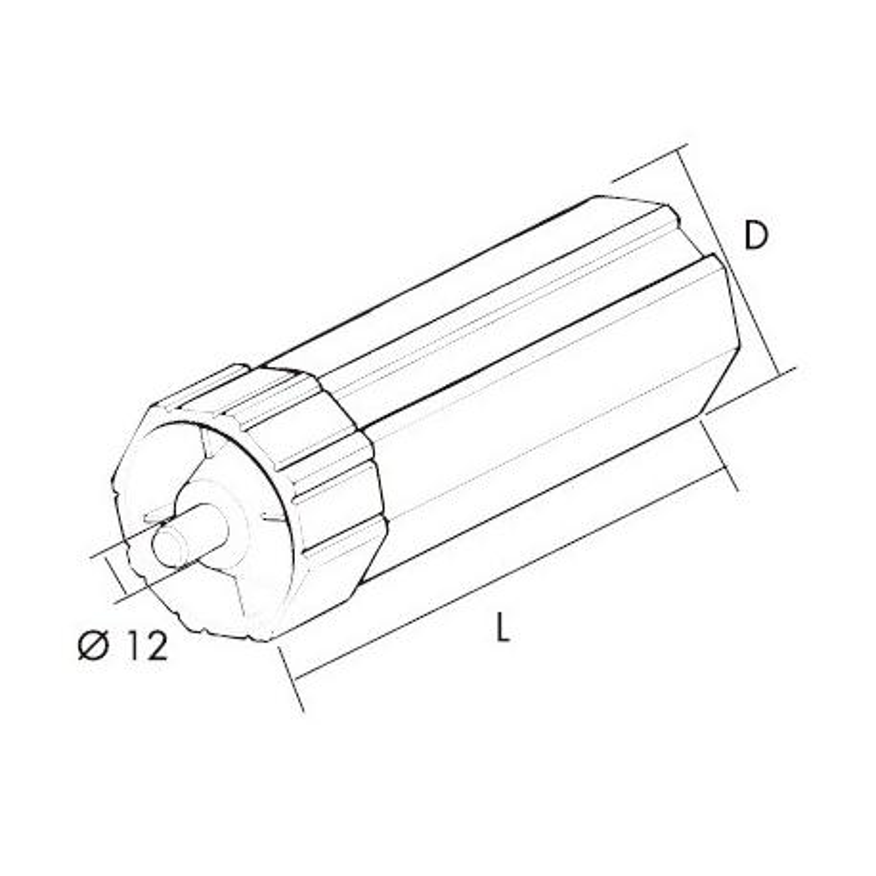 Gaviota-Simbac Cápsula PVC larga con espiga